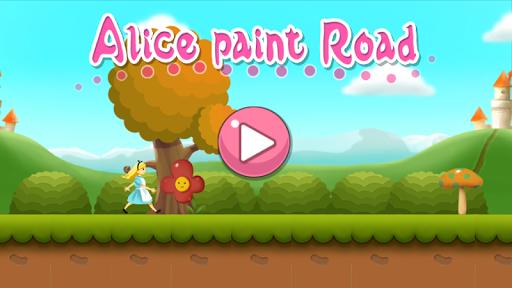 無料休闲AppのAlice paint Road|記事Game