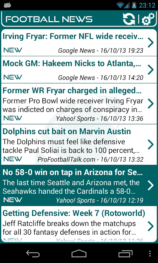 Miami Football News- screenshot