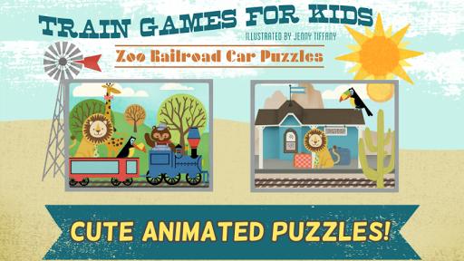 兒童火車遊戲:動物園鐵路汽車拼圖 - 教育 版