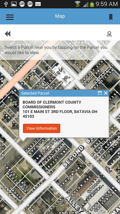 Clermont County Auditor- screenshot