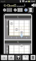 Screenshot of GChord2 (Guitar Chord Finder)