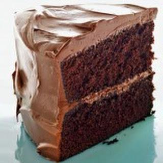 Devil's Food Bundt Cake with Mint-Chocolate Ganache