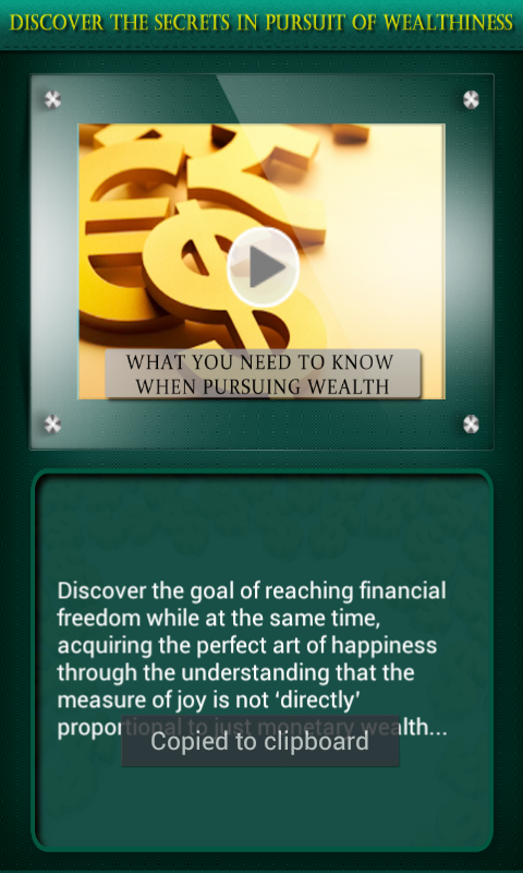 The Secrets of Wealthiness - screenshot