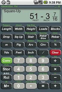 ConcreteCalc Pro Calculator- screenshot thumbnail