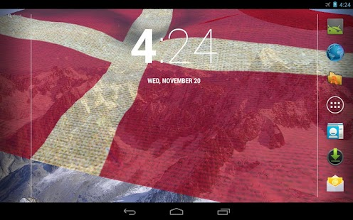 3D Denmark Flag Live Wallpaper - screenshot thumbnail