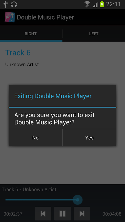 Double Music Player Pro- screenshot