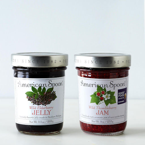 Wild Elderberry & Thimbleberry Jam (2 Jars)