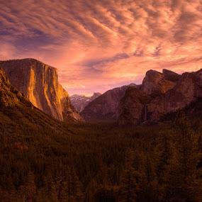 Sunrise on the Captain by Alec Johnson - Landscapes Sunsets & Sunrises