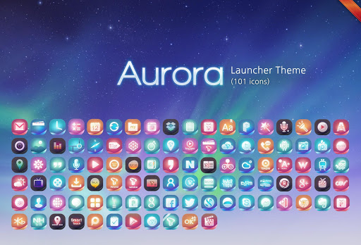 Aurora 확장팩 런처플래닛 멀티 테마