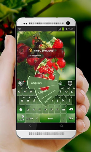 紅色漿果 GO Keyboard Theme