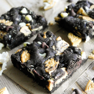 Chocolate Golden Oreo Cookie Bars
