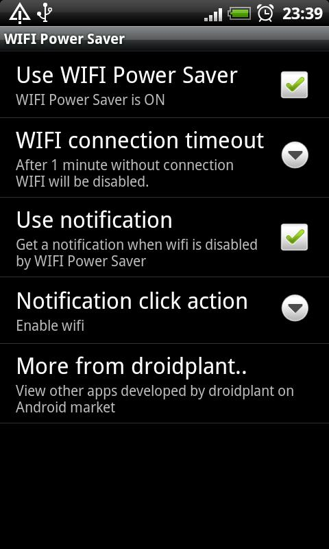 WIFI Power Saver - screenshot