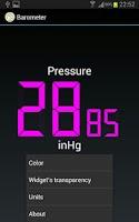 Screenshot of Barometer