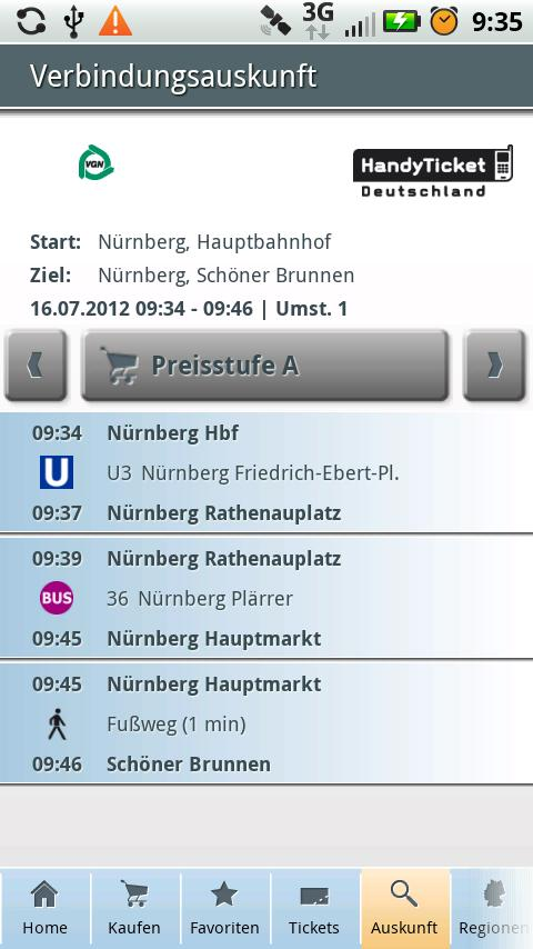 HandyTicket Deutschland - screenshot