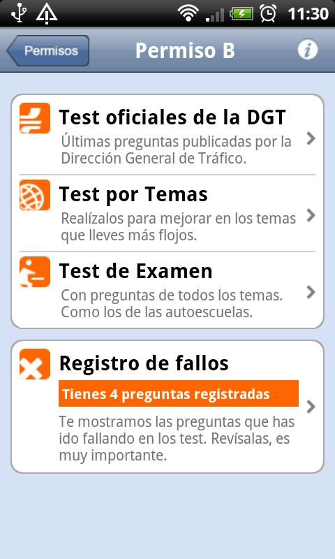 TodoTest: Test de conducir - screenshot