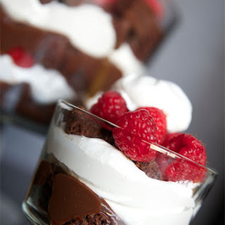 Raspberry Brownie Trifle