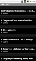 Screenshot of Relaxation Techniques