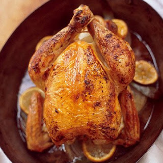 Roasted Chicken with Onion Gravy.