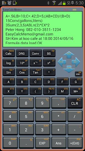 Easy Calc Memo Calculator