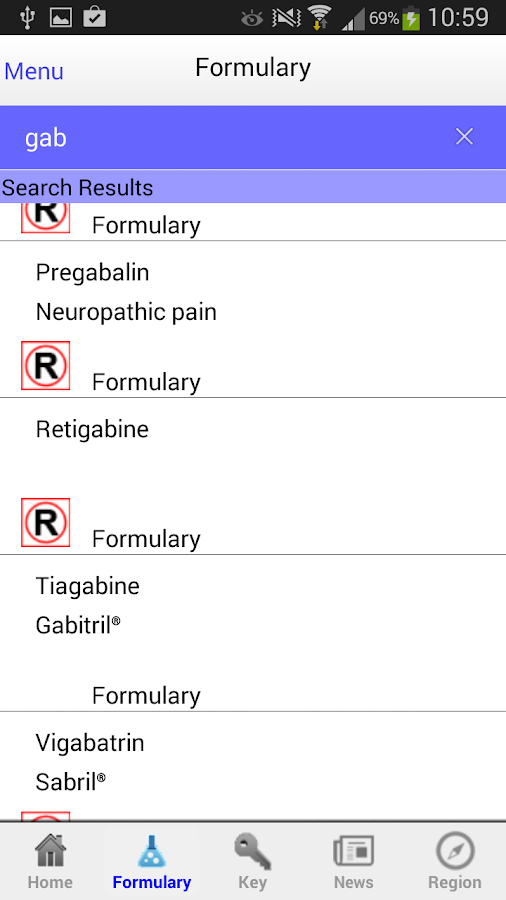 netFormulary- screenshot