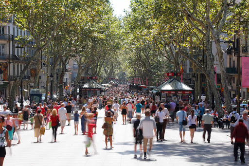 La Rambla is a main hub for shopping, dining and sightseeing in central Barcelona.