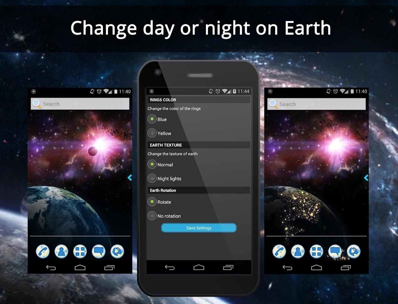 Gmail live themes - Ur 3d Space Galaxy Live Theme Screenshot