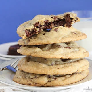 Brownie Stuffed Chocolate Chip Cookies.