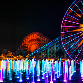 by Viks Pix - Buildings & Architecture Other Exteriors ( mouse, color, wheel, land, ferris, colorful, mickey )
