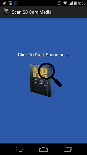 SD Card Scanner Scans Kitkat