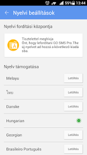GO SMS Pro Hungarian language- screenshot thumbnail
