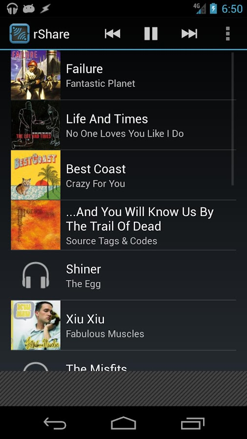 rShare for Google Play Music - screenshot
