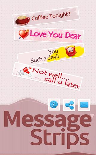 Colorful Chat Messages Strips