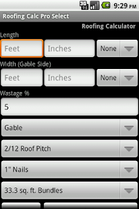 Roofing Calc Pro Select screenshot 1