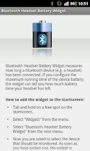 Bluetooth Headset Battery - screenshot thumbnail