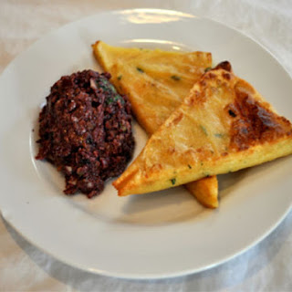 Panelle with Olive Tapenade (Sicilian Chickpea Flour Fritters)