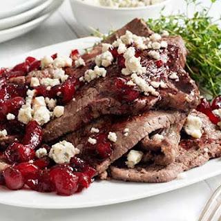 Gluten Free Steaks with Cherry Gorgonzola Sauce
