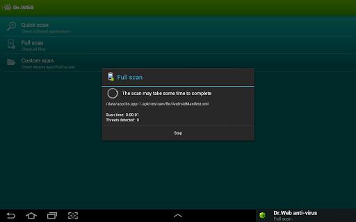 Dr Web v 9 Anti-virus Life license cracked for Android - Version