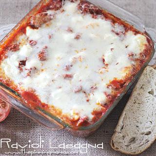 {Easy Dinner Recipe} Ravioli Lasagna.