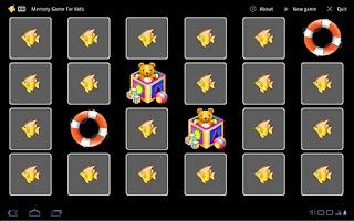 Screenshot of Memory Game For Kids