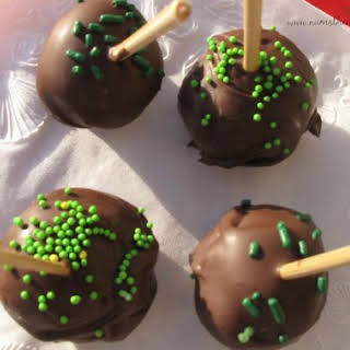 Mint Chocolate Chip Cookie Dough Truffles.