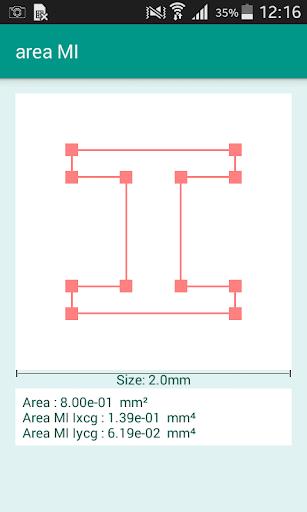 Area Moment of Inertia Lite