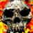 BurningSkullClock logo