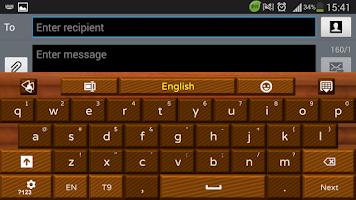 Screenshot of Dark Chocolate GO Keyboard