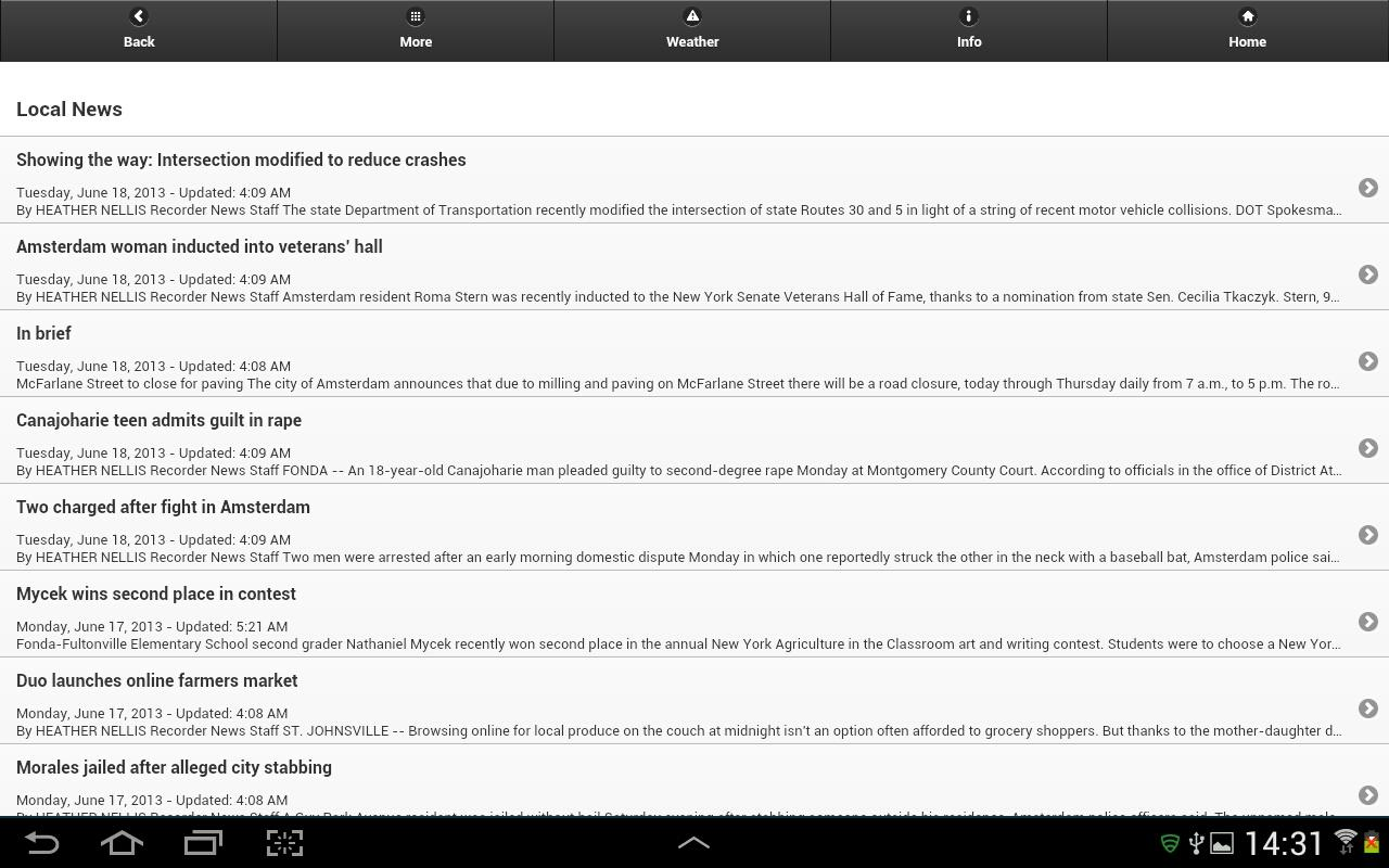 Amsterdam Recorder (Tablet) - screenshot