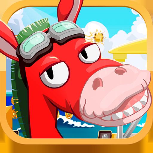 Flying Donkey (フライングドンキー) LOGO-APP點子