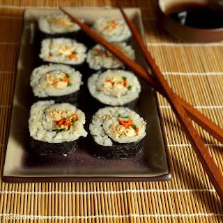 Smoky Tofu Veggie Sushi.
