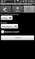 Screenshot of Cricket Scorer for Android
