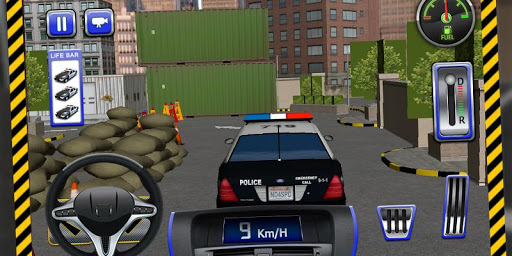 警方停车场3D