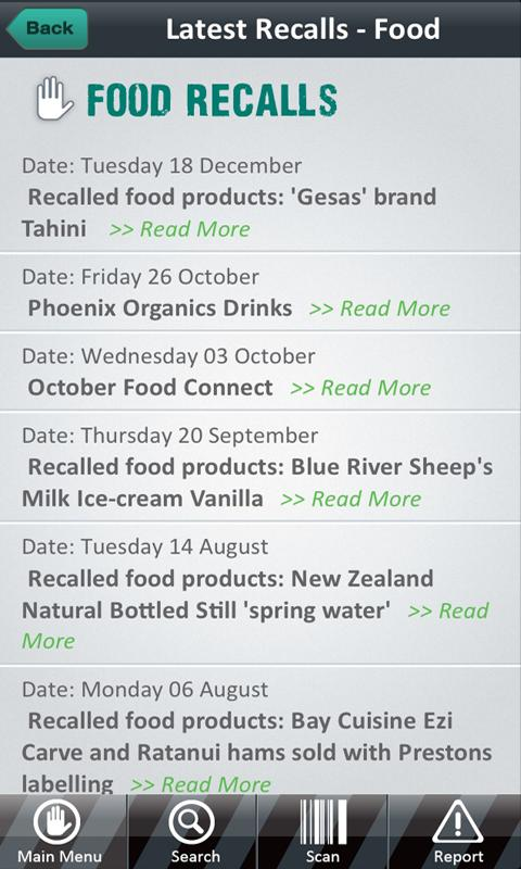 Product Recalls NZ - screenshot