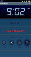 Screenshot of Quake Alarm Easy